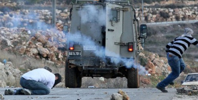 An Israeli solider shoot and kill Mustafa Tamimi at near point-blank range with a tear-gas canister to the face.