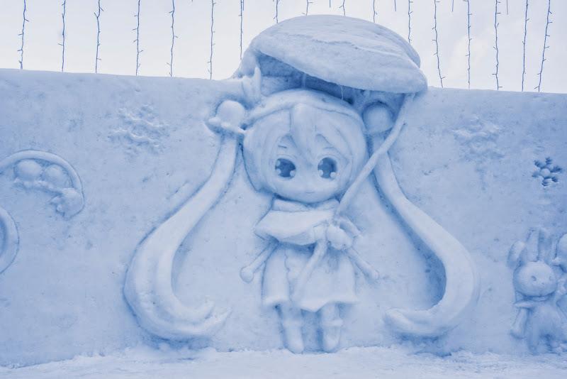 さっぽろ雪まつり 雪ミク SNOW MIKU 写真