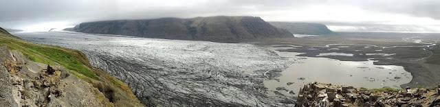 Skaftafellsjökull glacier panorama in Skaftafell National Park