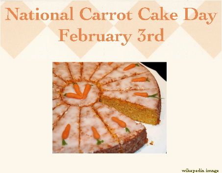 National Carrot Cake Day | February 3rd