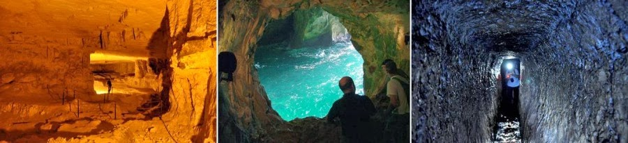 Гроты, подземелья, пещеры Израиля. Масонская пещера в Иерусалиме. Морские гроты в на севере Израиля, Рош ха Никра. Римскийо-Византийский подземный водовод для Кейсарии, Парк Алона. Гид в Израиле Светлана Фиалкова.