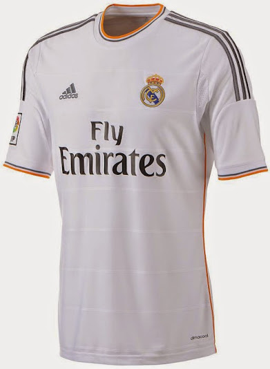 Real Madrid official home shirt 2014
