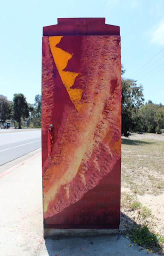 Victor Angelo Street Artist Iconic La Jolla Public Art Painting La Jolla Shores Torrey Pines Road