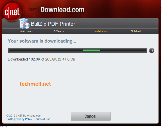Downloading Bullzip PDF Printer for Windows 8.1
