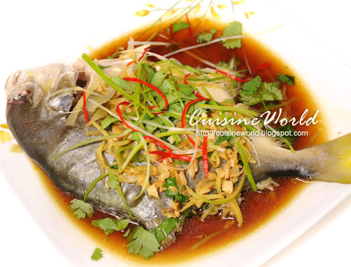 Cuisineworld steamed pompano for Pompano fish recipe