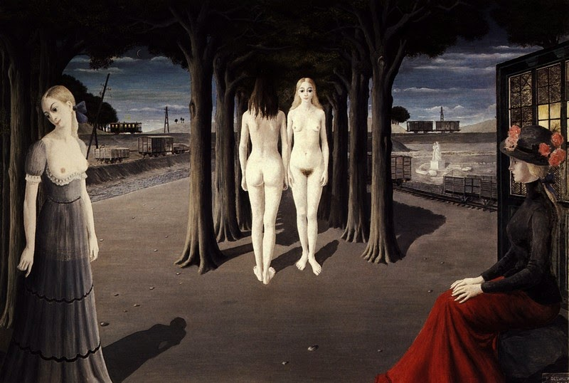 Paul Delvaux - Ruins of Selinunte, 1973