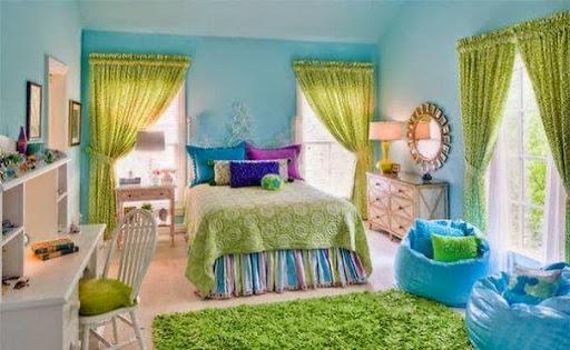 Thiết kế nội thất phòng ngủ với gam màu xanh tươi mát_CONG TY NOI THAT-4