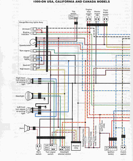 electronics - v-star 1100 wiki knowledge base 1989 dodge raider wiring diagram #5