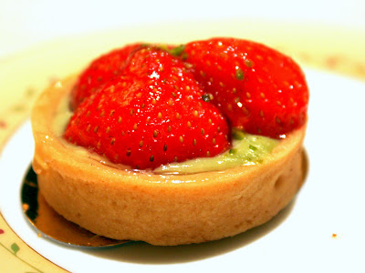 Strawberry tart at Jumeirah Carlton Tower in London