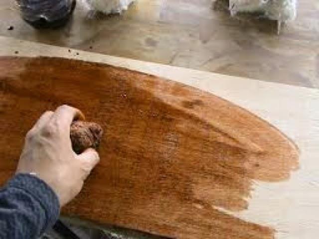 Te ir virutas de madera exterior - Aprender a pintar en madera ...
