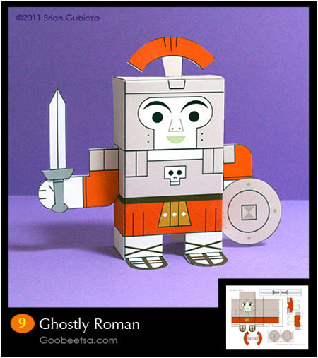 Ghostly Roman Paper Toy