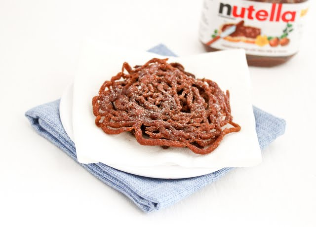 photo of a Nutella Funnel Cake on a plate