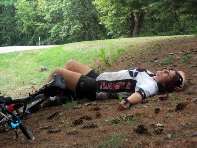 resting at the thunder rolls adventure race