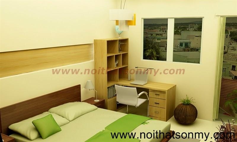 Thiết kế nội thất phòng ngủ tiện nghi