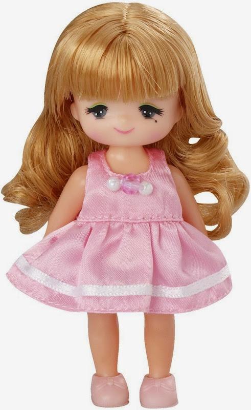 búp bê Maki mẫu giáo mặc váy hồng dễ thương