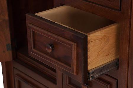 Lotus Wardrobe Dresser in Ruby Walnut