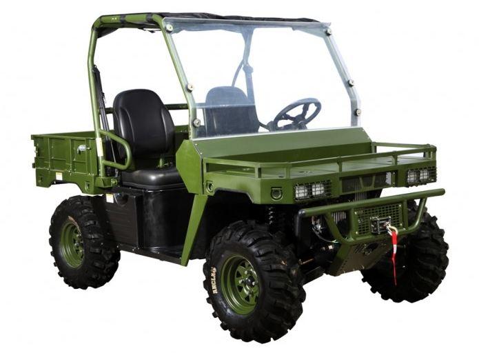 500cc Agmax 4WD Military Farm UTV Green