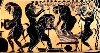 Οι Σειληνοί συνήθως διασκέδαζαν, παίζοντας μουσική και χορεύοντας με τις Μαινάδες.