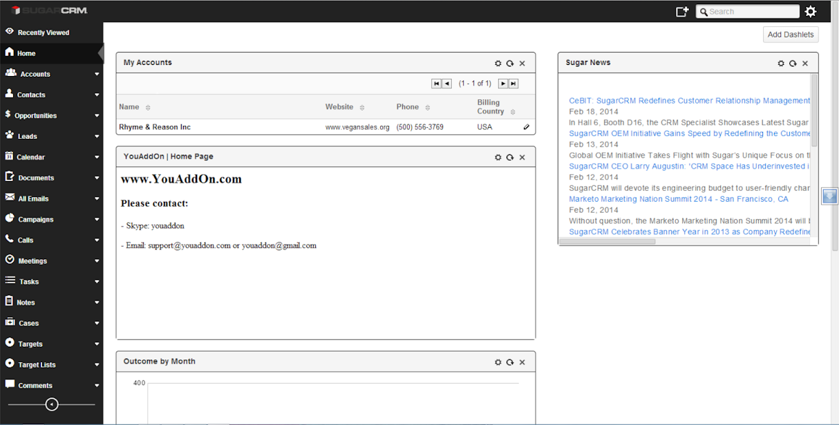 SugarCRM Metro Black Theme for CE