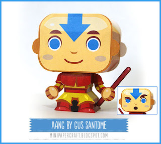 Avatar Mini Aang Paper Toy