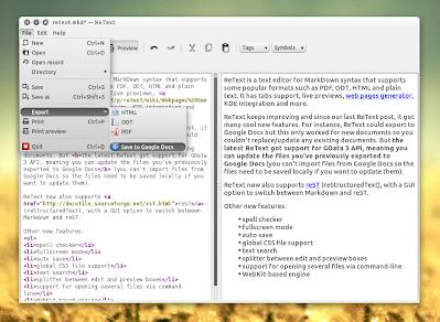 Retext text editor linux
