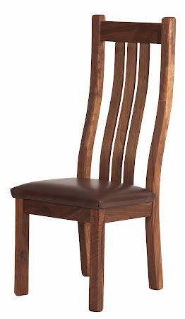 Winslow Dining Chair in Oil and Wax Walnut, with Leather Seat