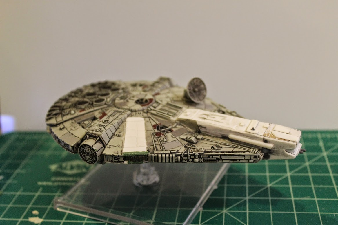 Right side view of the custom YT-1300.