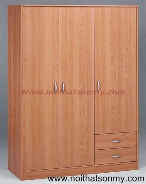 Tủ quần áo gỗ 3 cánh