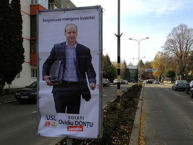 Afiş Ovidiu Donţu PSD Suceava - Împreună mergem înainte - campania pentru alegerile parlamentare 9 decembrie 2012