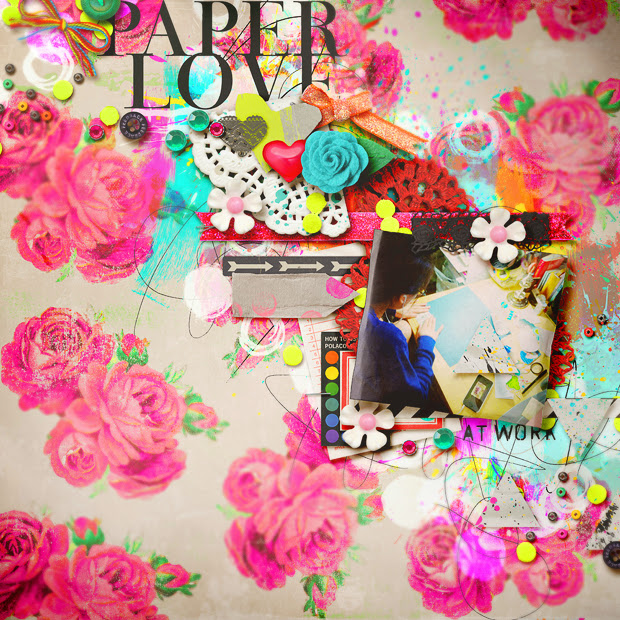 Paper Love // 12x12 // Try and Stop Me by Jenn Barrette + Michelline Martin