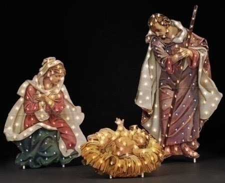 48-Inch Fontanini Holy Family Lighted Nativity Christmas Yard Art #169888