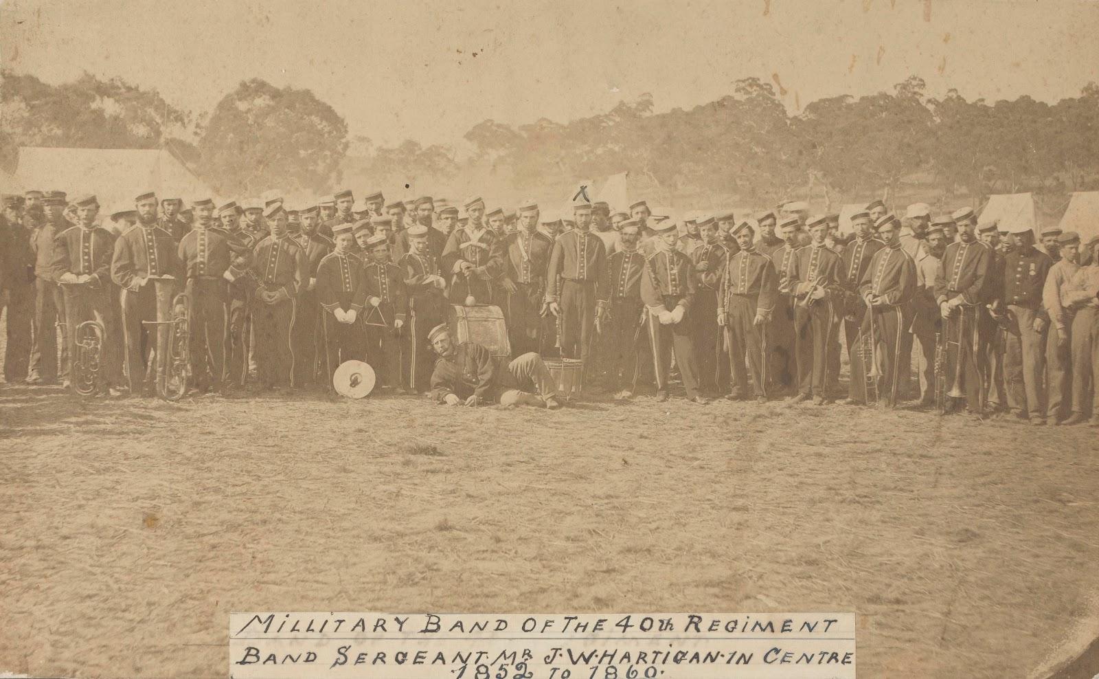 40th Regiment Band 1852 - 1860