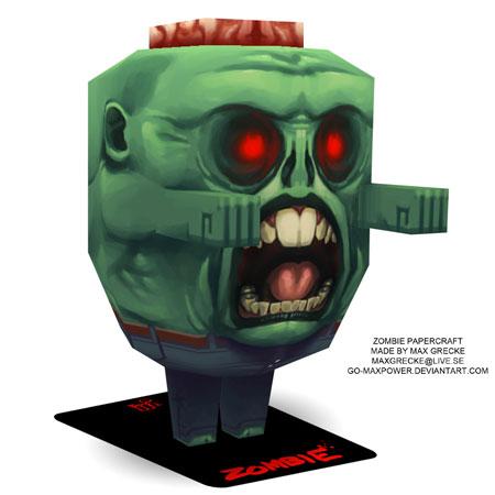 Humpty Dumpty Zombie Papercraft