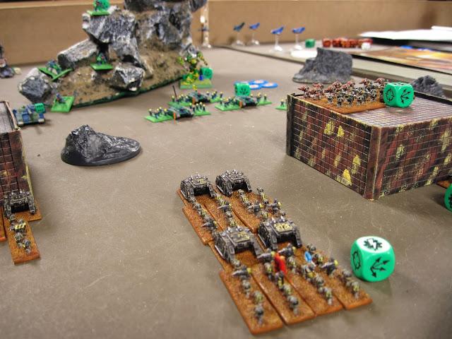 Chris's Iron Warriors shooting up Tim's Skitaari.