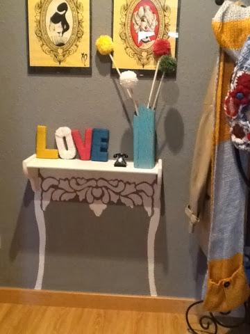 Entre cazos y pinceles letras handmade para decorar tu casa - Como decorar la entrada de mi casa ...