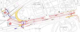 La bici en la reforma de la calle O´Donnell entre Alcalá y Menéndez Pelayo - pincha para ampliar el plano