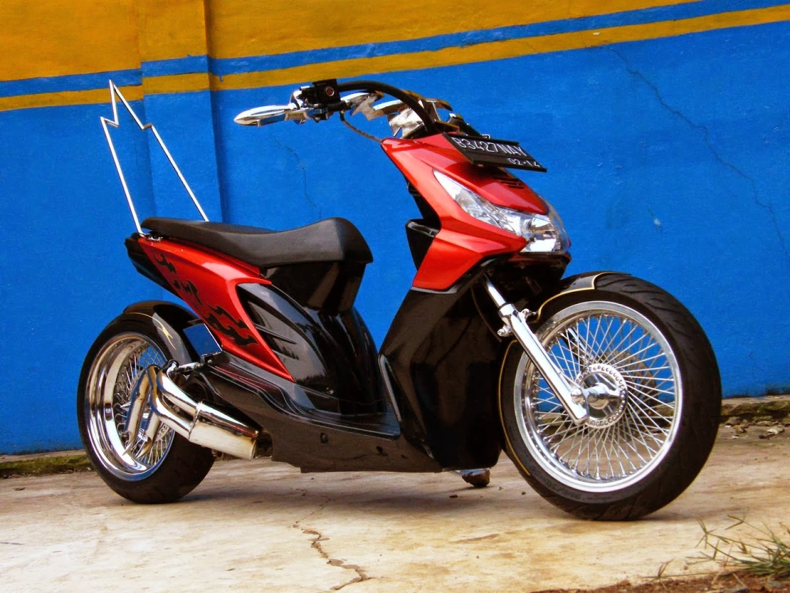Modifikasi Motor Honda Beat Drag