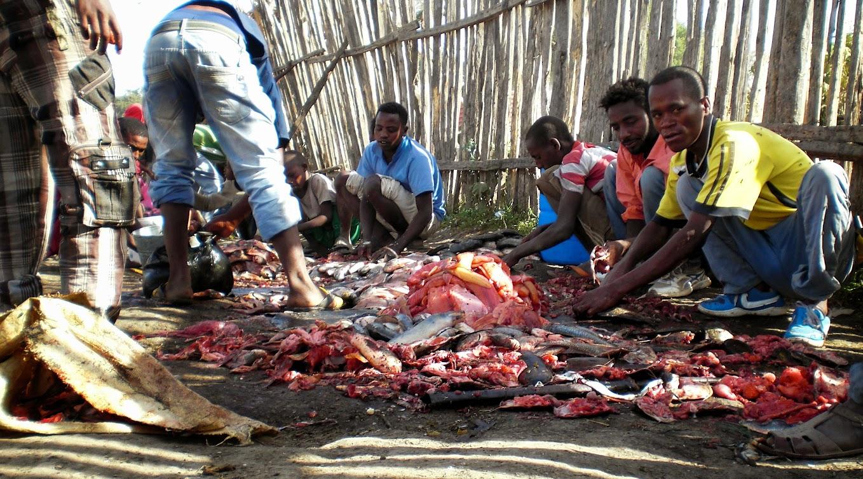 Zuvu turgus Awasoje, Etiopija. Autorius:Tomas Baltusis