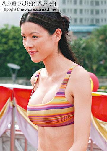 枕頭包 <br><br>06年參選港姐,不斷被指隆胸,穿上泳衣的她,穀胸穀到上鎖骨。