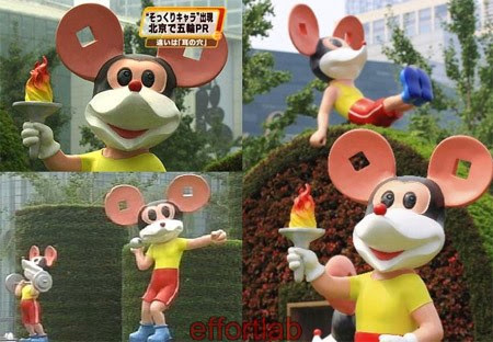 patung-mickey-mouse-tiruan-di-china