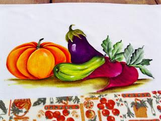 pintura abobora, beringelas, beterrabas e abobrinha