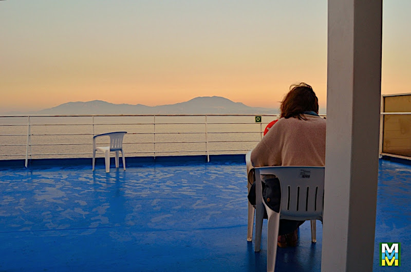 Barco en el Adriático.