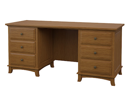 Rochester Executive Desk in Seely Quarter Sawn Oak