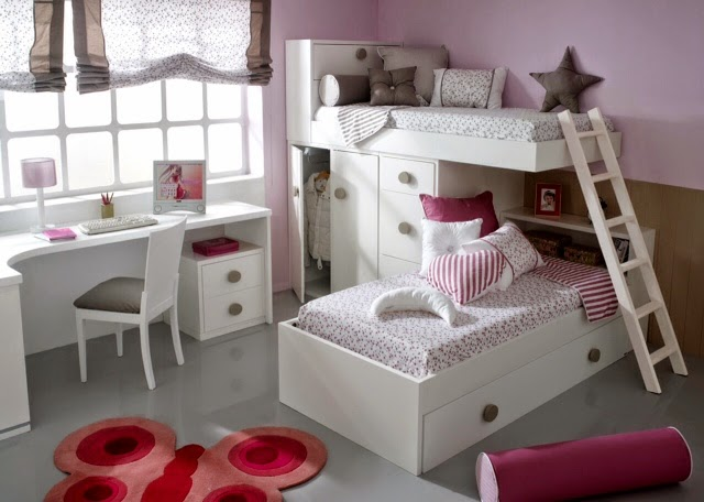 Camas dobles ni os for Habitaciones para ninas 8 anos