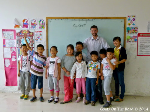 NIck with his class. From 7 Ways To Save $10,000 Teaching English In China