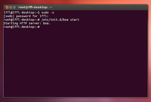 BOA WebServer su Ubuntu