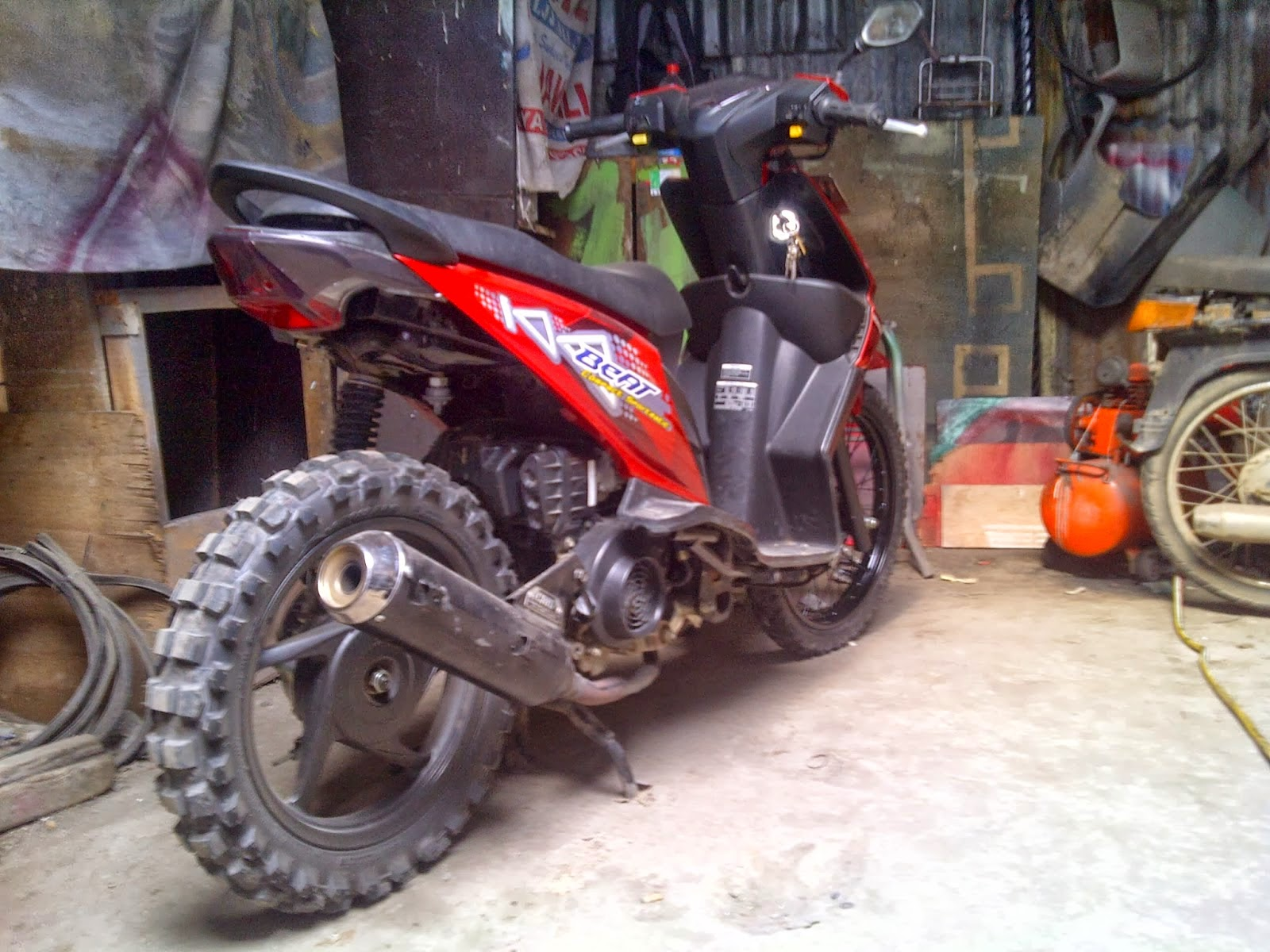 Download Koleksi 52 Modifikasi Honda Beat Menjadi Motor Trail