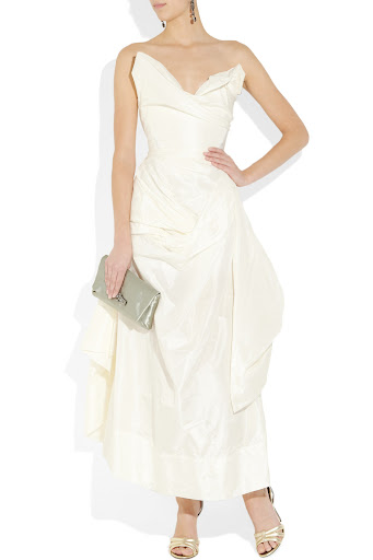 Vivienne Westwood Gold Label Feather draped silk-taffeta gown at Net-A-Porter