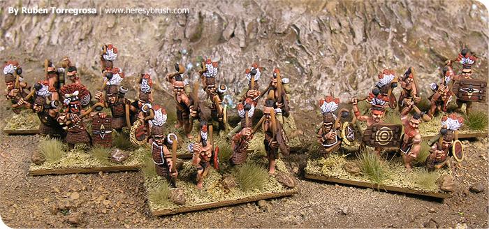 Cómo pintar indios pueblo en 15mm de kurhasan miniatures