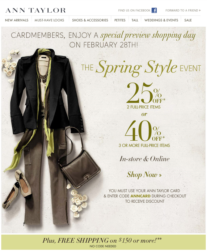 Ann Taylor Spring Style Event
